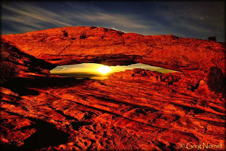Mesa Arch Night View