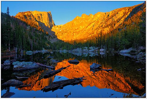 Dawn on Dream Lake in Rocky Mountain National Park