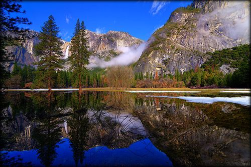 Yosemite Valley Winter Reflections